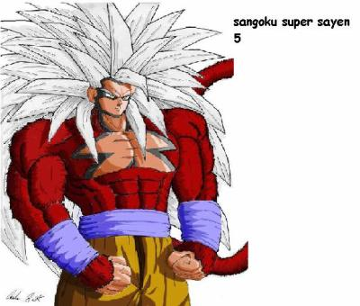 Sangoku super sayen 5 dragon ball z gt - Sangoku super sayen 6 ...